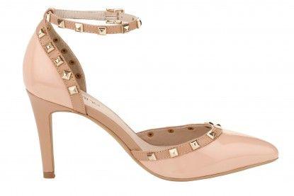Női magassarkú cipő HEINE - nude