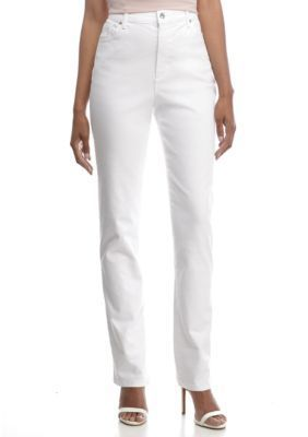 Gloria Vanderbilt Women's Amanda Jean - Long - Shell White - 14 Long