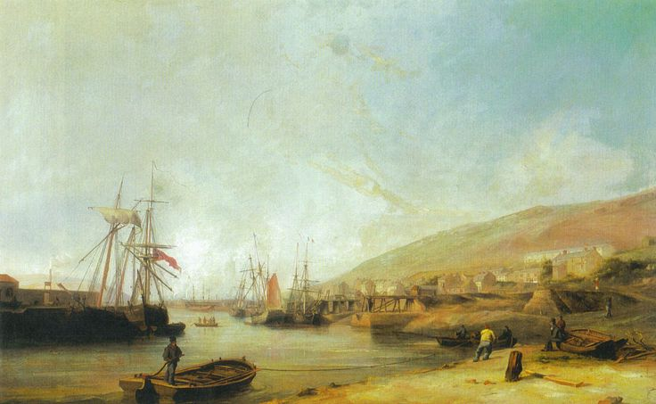 Painting of Smith's Canal Tipping Staithes on the East bank of the River Tawe at Foxhole.
