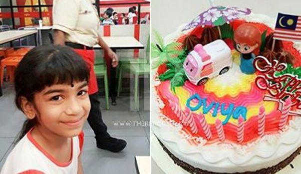 Ini kek halal saya baru beli dari kedai orang Melayu  Tolonglah kami cuma nak potong kek dia cuma berusia 7 tahun   Oleh Subash Chandrabose Arumugam Pillai  Kisah sayu yang berlaku semalam  Hujan lebat di luar Oviya kerap bertanya  Ini kek halal saya baru beli dari kedai orang Melayu  Tolonglah kami cuma nak potong kek dia cuma berusia 7 tahun  Appa boleh kita potong kek di dalam sana dan belikan saya hidangan kanak-kanak?  Semalam kami bercadang mahu menyambut harijadinya. Oviya berharap…