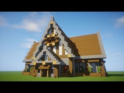 http://minecraftstream.com/minecraft-tutorials/minecraft-tutorial-big-survival-house-how-to-make-a-big-house-medieval-library/ - Minecraft Tutorial: Big Survival House - How to make a big house - Medieval library Minecraft: How to build a wooden house tutorial. Today I'm showing you how to make a big survival house. This is a big epic awesome survival Medieval library l with everything you need. big survival mansion! This is a cool Rustic survival house. Minecraft: