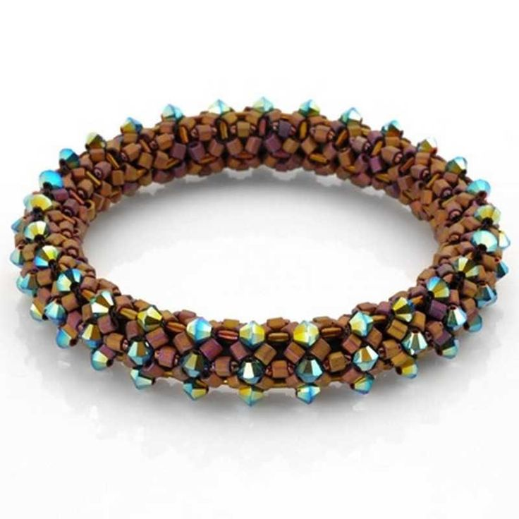 Infinity SIZE 15 SEED BEADS, #8 HEXAGON BEADS, 3MM BUGLE BEADS, 4MM CRYSTALS (75+ DEPENDING ON THE SIZE), 4-6 LB. FIRELINE, SIZE 12 BEADING NEEDLE, E-6000,  4.8MM (.1888-INCH) BUNA RUBBER CORDING-LESS THAN 1 FOOT, 1/2 INCH STRIP OF 3/16 INCH HEAT SHRINK TUBING