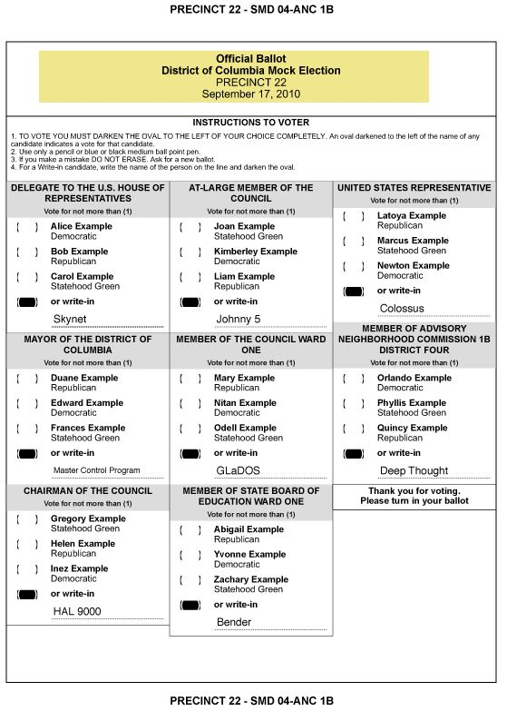 Best  Voting Ballot Ideas On   Election Day