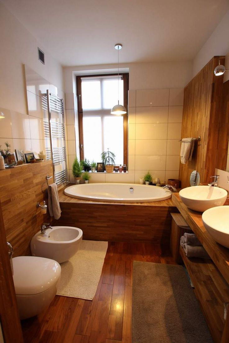 łazienka , drewno ,