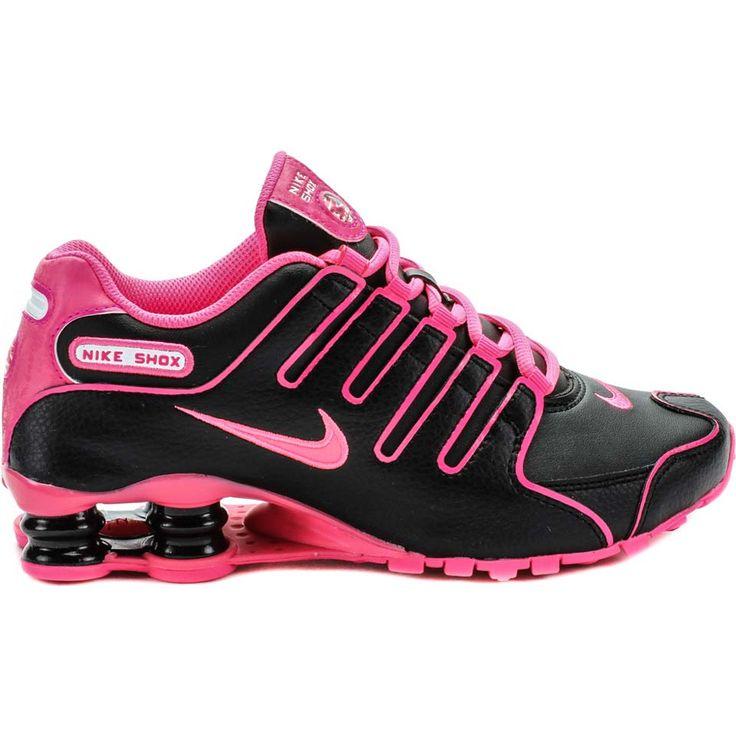 nike shox pink and black