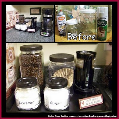 Dollar Store Crafter: Turn Empty Jars Into A 'Coffee Corner'