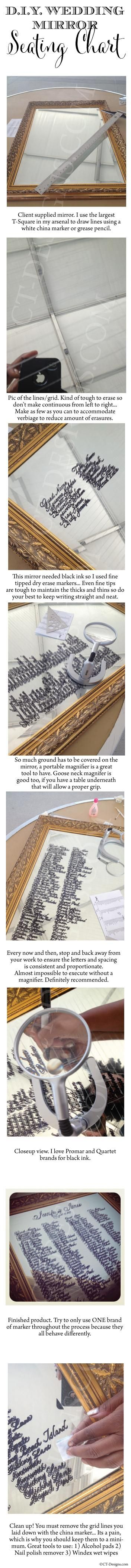 Wedding Mirror Seating Chart: Behind the Scenes