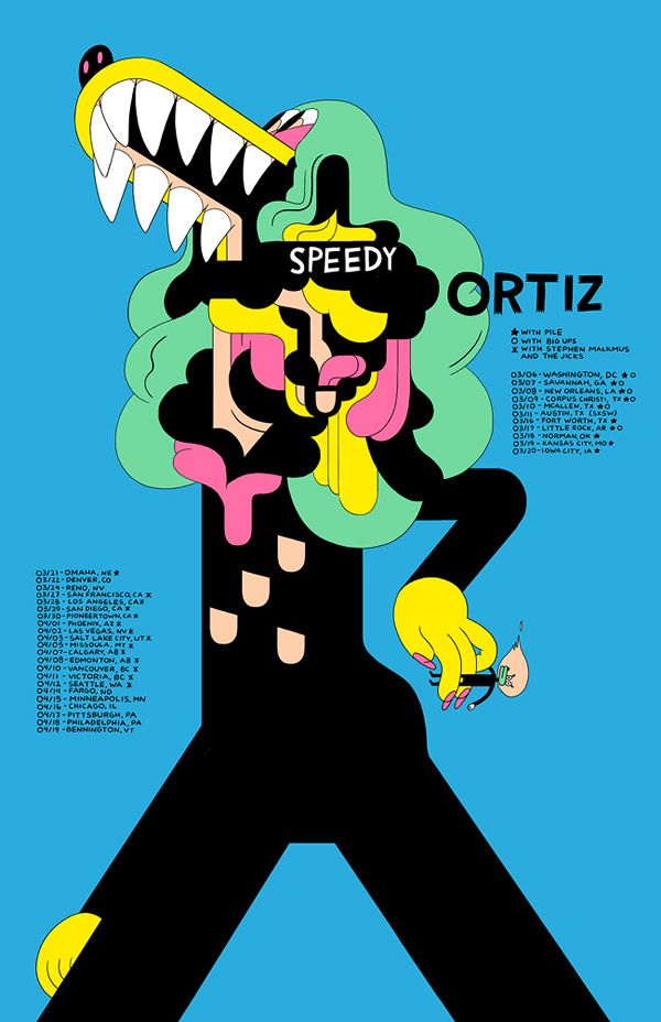 After looking at this for no more than ten seconds I felt the urge to start making things. Spectacular color palette and form-making by Michael DeForge.
