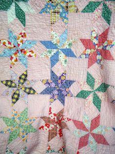 Vintage Quilt Patterns | Flour Sack Mama: Vintage Star Quilt