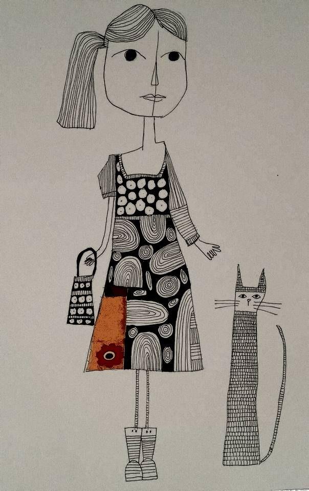 The city in the girl. Illustration made by Bente Sandtorv