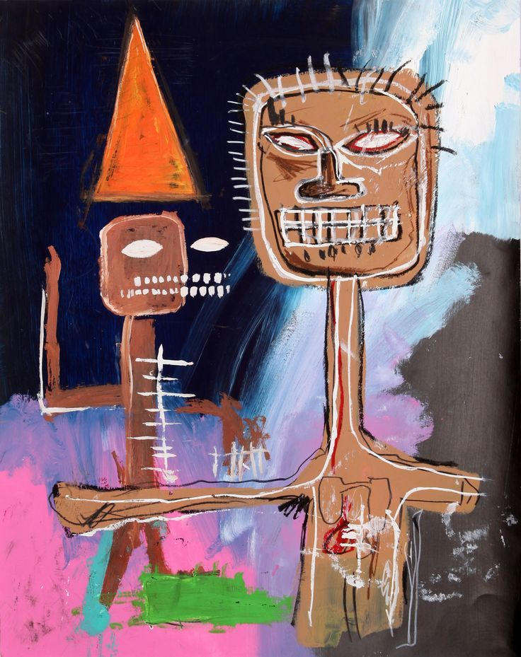 Jean-Michel BASQUIAT; another painting on the back