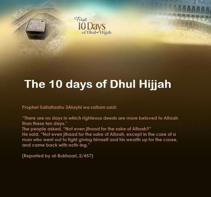 The 10 days of Dzulhijjah