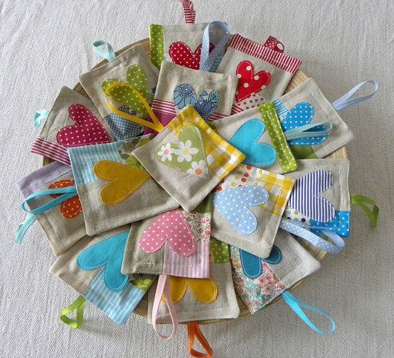 Wee lavander sachet by krakracraft on Etsy