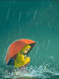 Fata de animație în ploaie, în spray de apă (© chucha), a adăugat: 07/09/2015 00:26