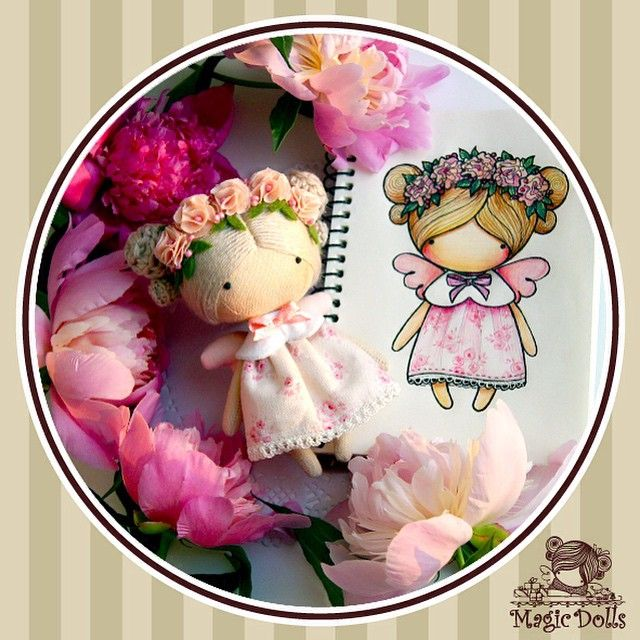 Ma Petite Poupee - Peony Angel, h=11cm (for example/to order, для примера/под заказ)