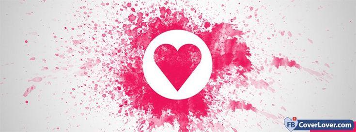 Love Heart Splash Letters - cover photos for Facebook - Facebook cover photos - Facebook cover photo - cool images for Facebook profile - Facebook Covers - FBcoverlover.com/maker