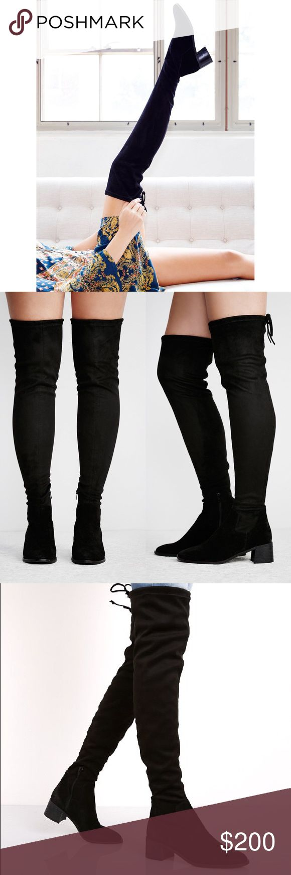 Free People Coast to Coast OTK Boots ⠀ ‣‣❊‣‣‣‣❊‣‣ NO TRADES ‣‣❊‣‣‣‣❊‣‣ ⠀ ☾Free People Coast to Coast Boots. Edgy over-the-knee boots featuring an adjustable tie at the opening. Side zipper closure for an easy on-off. Chunky block heel for a comfortable step. Retail $268. European size 39. Worn once for photoshoot Free People Shoes Over the Knee Boots
