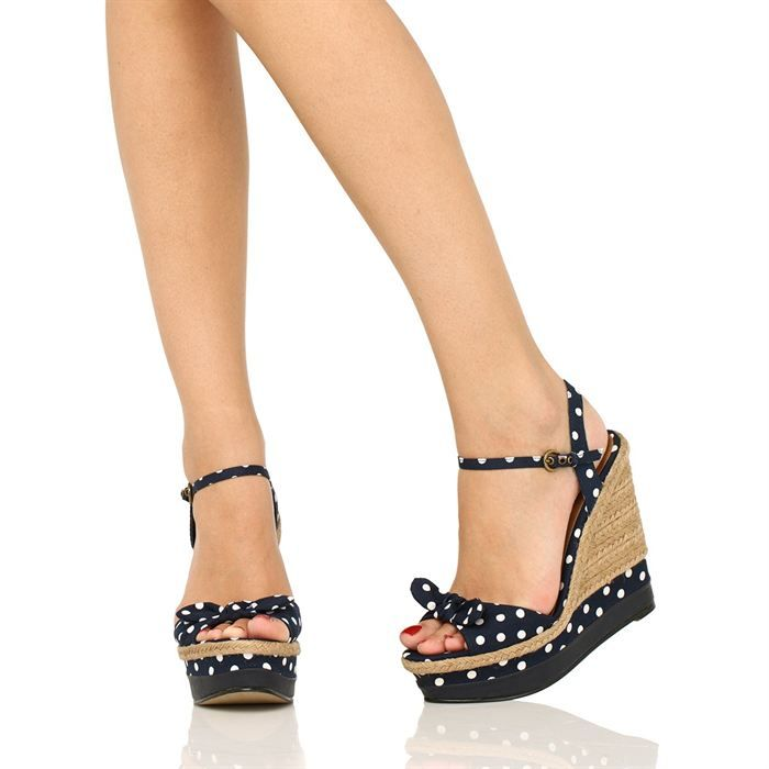chaussure femme compensee ete pas cher