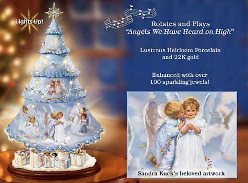 Sandra Kuck Heavenly Holiday Illuminated Rotating Tabletop Christmas Tree ** More info could be found at the image url. (This is an affiliate link) #CollectibleFigurines