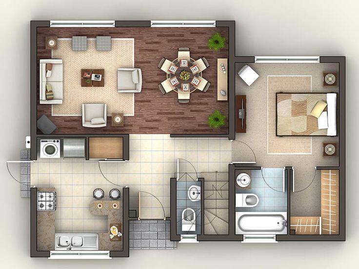 Modelo Canelo: Desde 4.865 UF. 1er piso: Hall de acceso, dormitorio principal en suite con walk in closet, living comedor, amplia cocina amoblada, comedor diario y baño de visita. CiSS la experiencia de vivir.