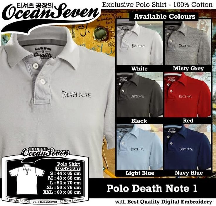 Kaos Polo Death Note 1 | Kaos Polo - Exclusive Polo Shirt