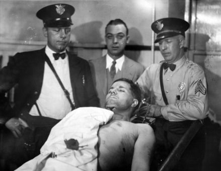 "Charles Arthur ""Pretty Boy"" Floyd, Public Enemy No. 1, died in a hail of gunfire. October 22 1934"