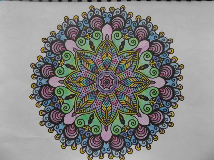 This mandala turned out beautiful I think, Patricia