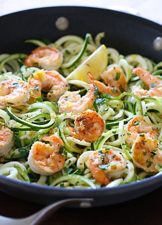 Shrimp Scampi Zoodles for Two - Favorite Recipes