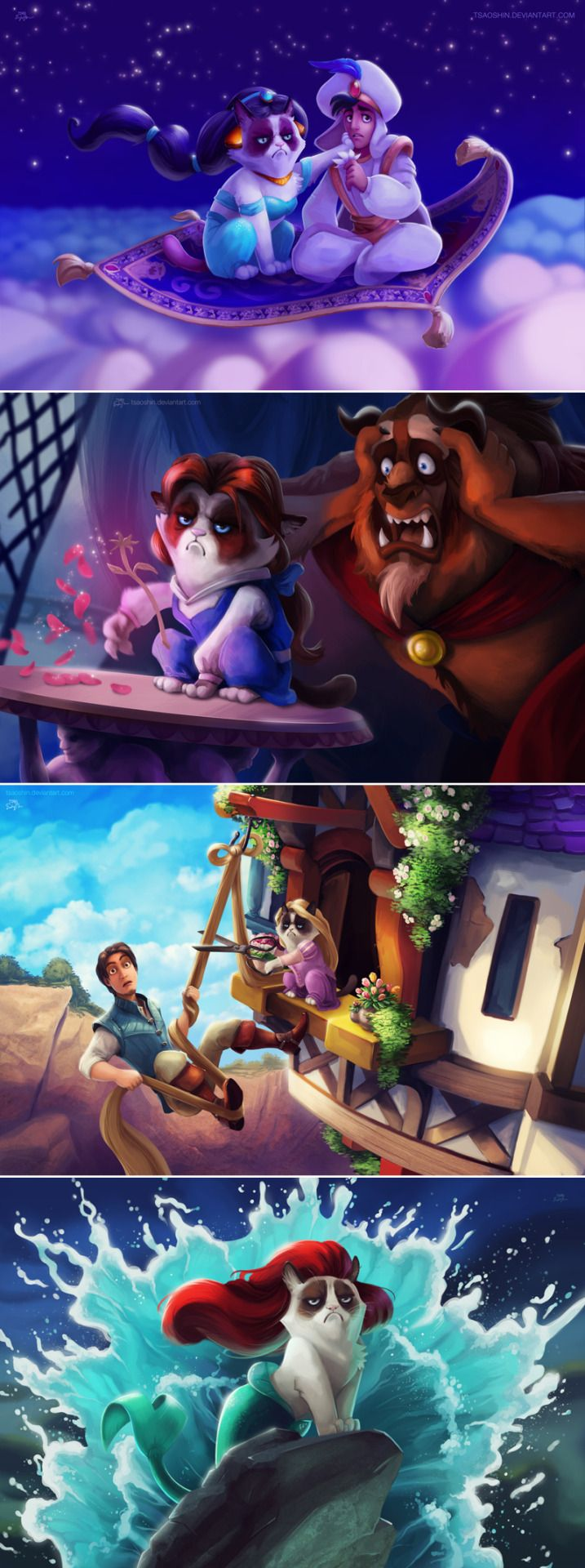 Grumpily ever afters — Grumpy Cat Disney Princesses
