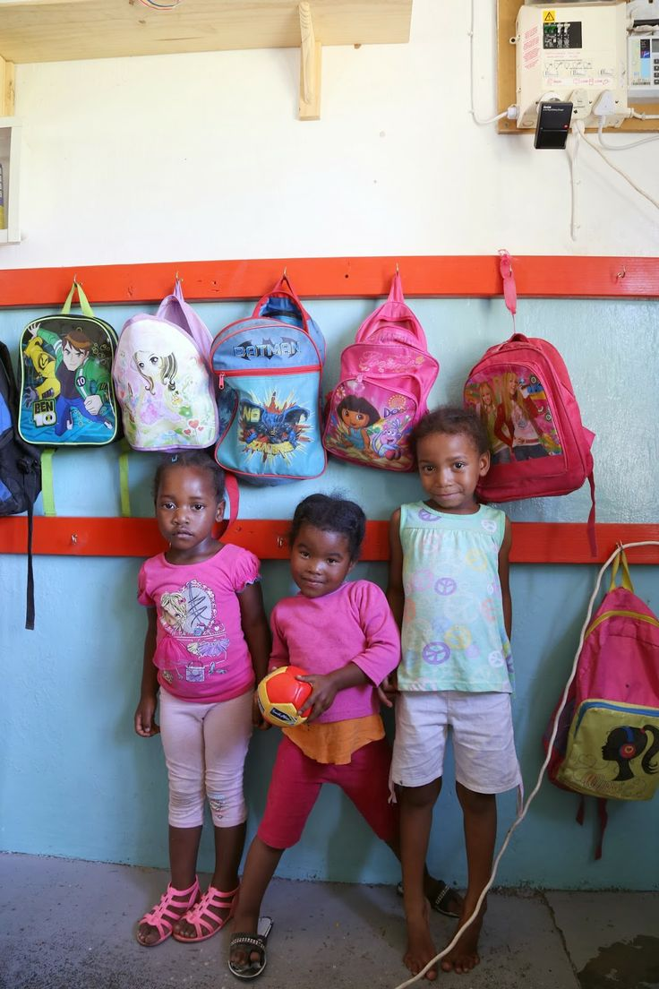 South African workers' children in the farm creche