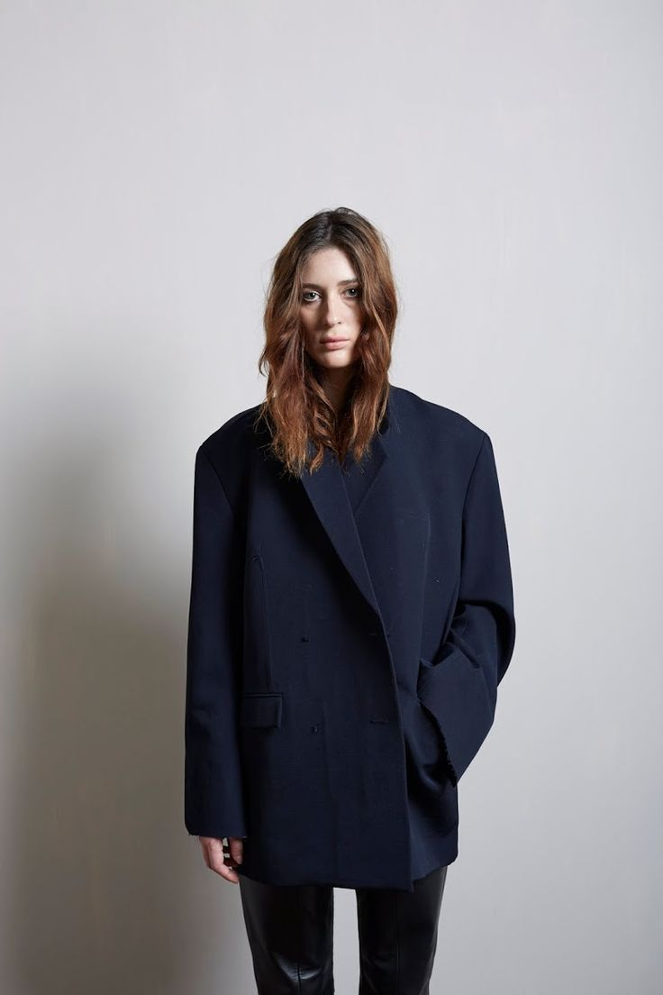 Tucked in hair & oversized jackets | Lou Dungate