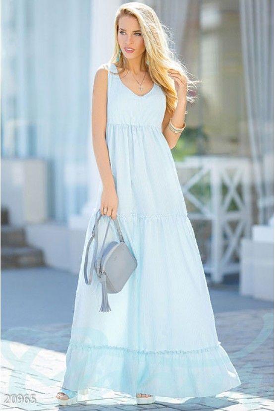 Легкое платье полоска