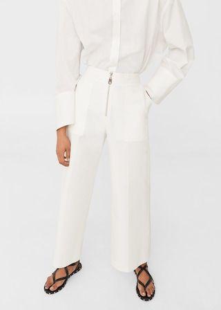 Katoenen broek met zakken -  Dames | MANGO België