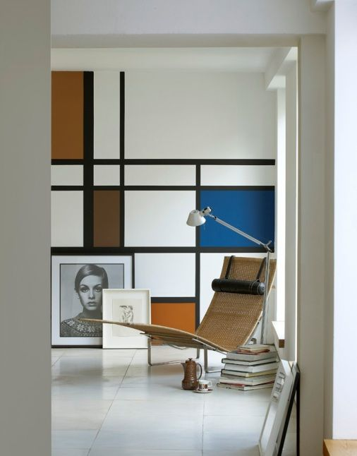 little greene's new 'retrospectives' collection.......very Mondrian:)
