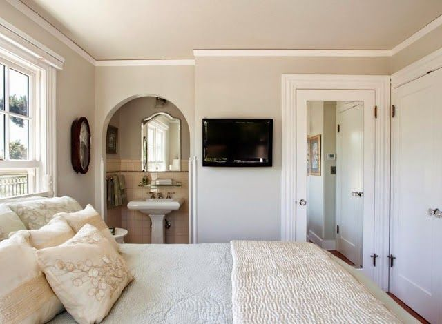 Edgecomb Gray (Benjamin Moore) a warm gray on the lighter side..