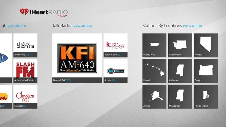 iheartradio app main screen