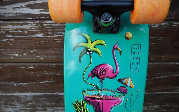 Landyachtz Dinghy - Flamingo Martini | Cruiser Board