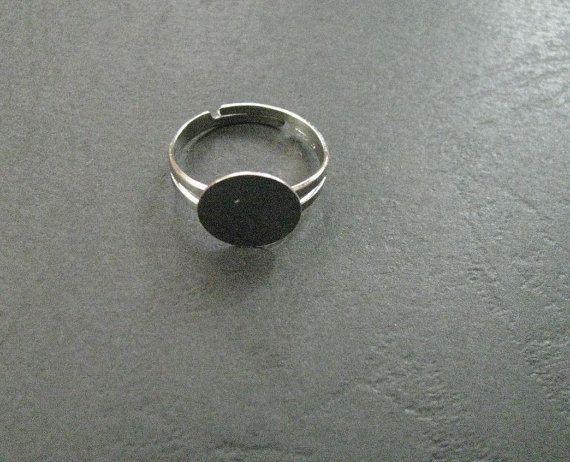 12 mm Adjustable Glue on Pad Ring Base by Turkeysupply http://etsy.me/1CydFms #jewelry #ring #mount #brass #jewel #gem #bezel #setting