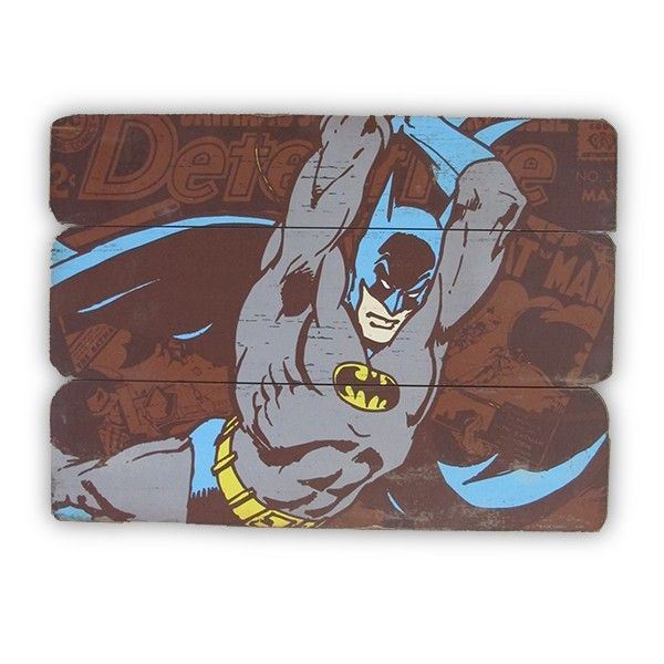 Placa de Madeira Batman Attacking Position