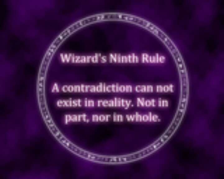 I just replace the words wizards rules and put in words to live by! These are very true