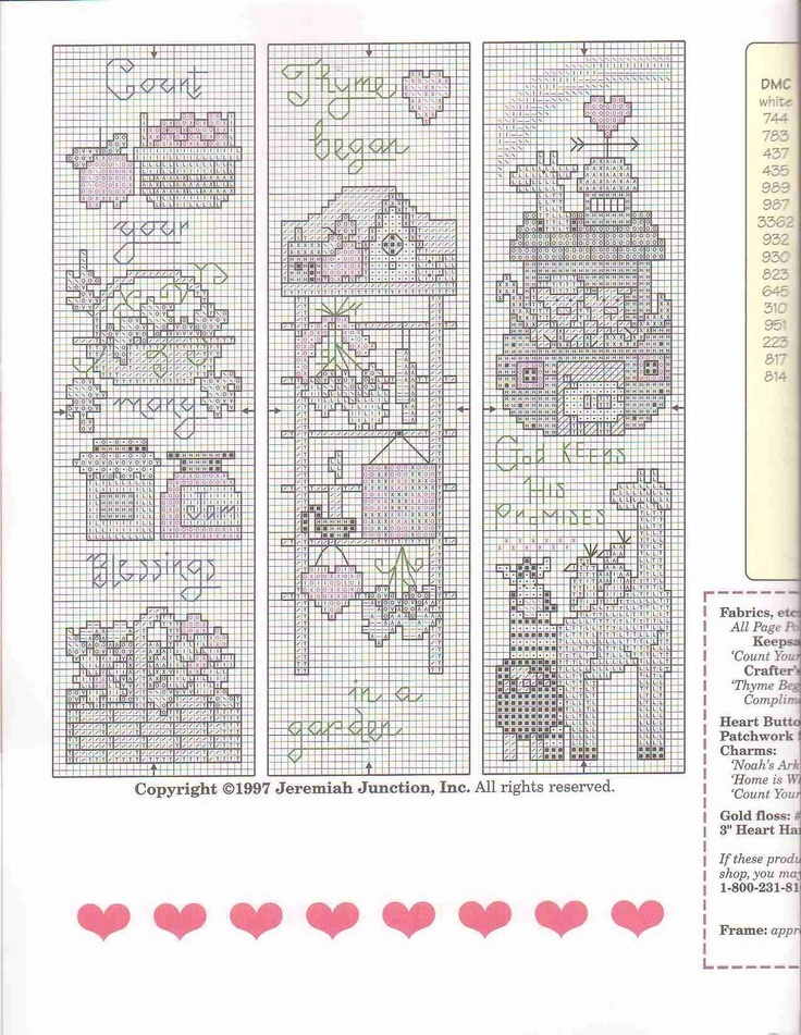 Cross-stitch more country stitching bookmarks, part 1