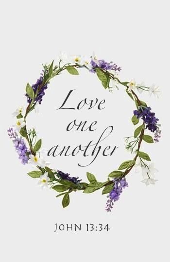 John 13:34  KJV.....A new commandment I give unto you, That ye love one another; as I have loved you, that ye also love one another.