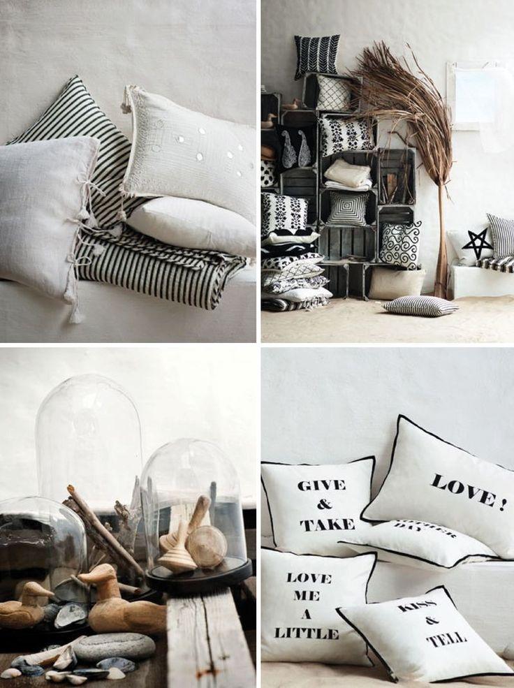 Day birger et mikkelsen pillows home interior design black and white stripes