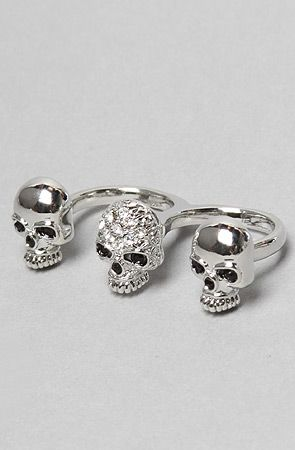 The Two Finger Skull Ring by Soho Collection