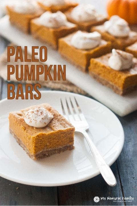 Paleo Pumpkin Bars Recipe