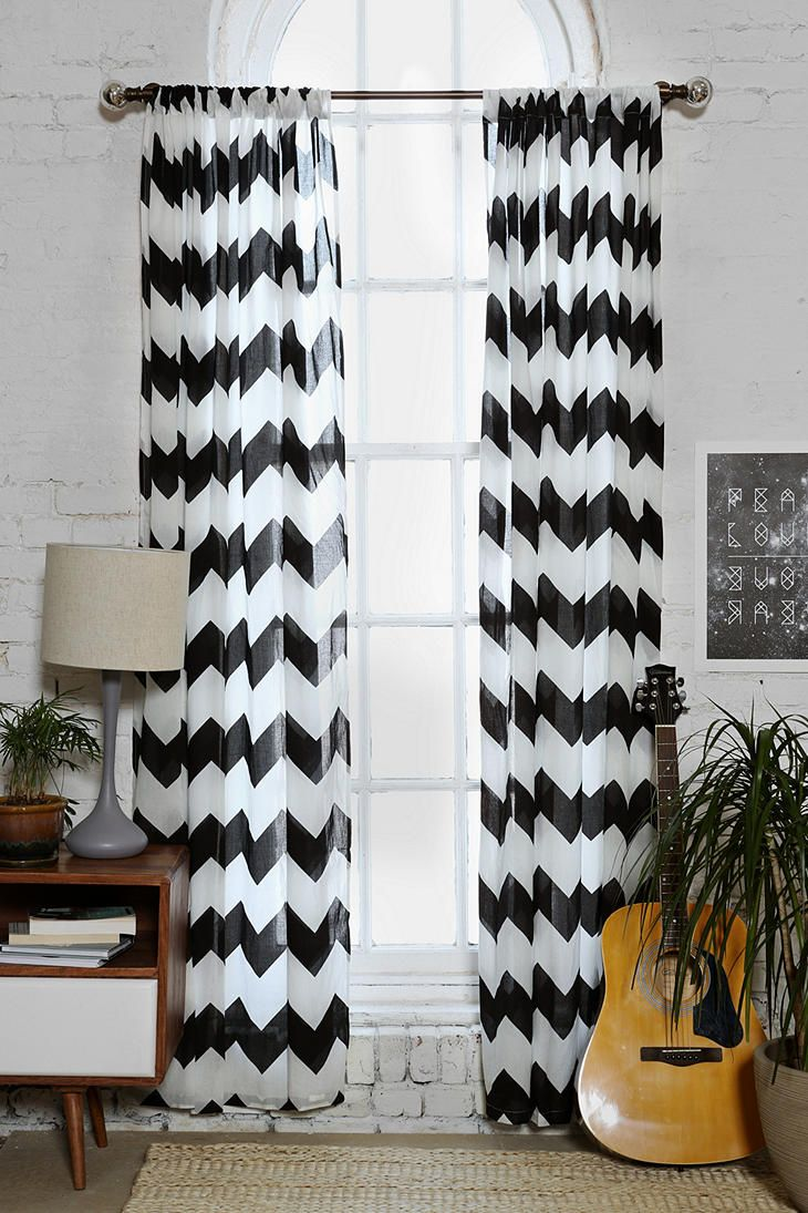 Black and white chevron curtain - Curtains Apartment Ideas Living Rooms Curtains Chevron Curtains Shop Black And White