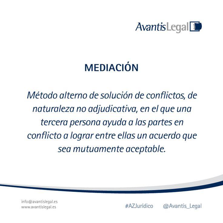 """Para el día de hoy tenemos un #AzJurídico con el método alterno de solución de conflictos """"Mediación"""""""