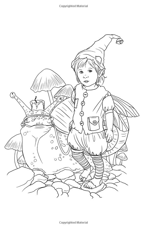 Magical Minis Pocket Sized Fairy Fantasy Art Coloring Book By Selina