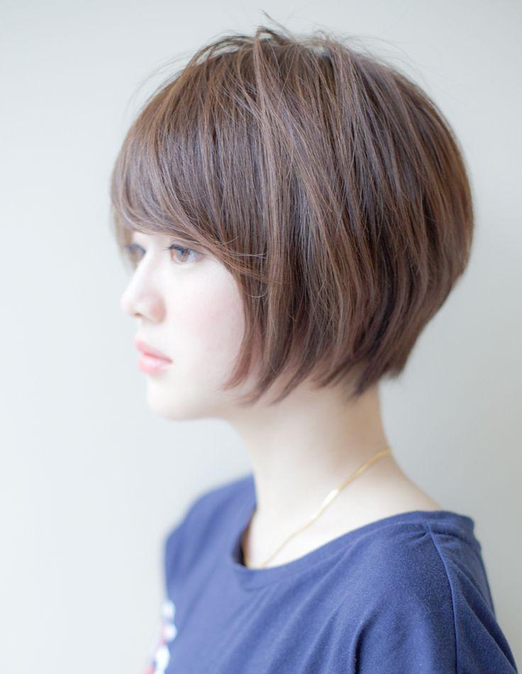 ナチュラル小顔ショート(IT-001)   ヘアカタログ・髪型・ヘアスタイル AFLOAT(アフロート)表参道・銀座・名古屋の美容室・美容院