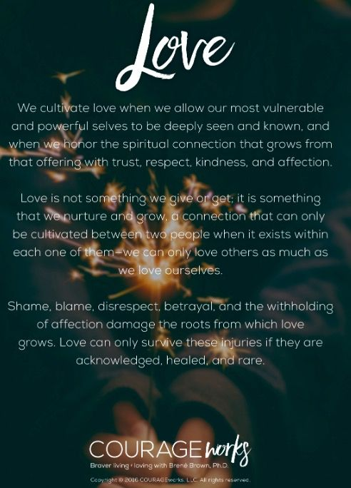 Definition of Love by Brene Brown. ❤️